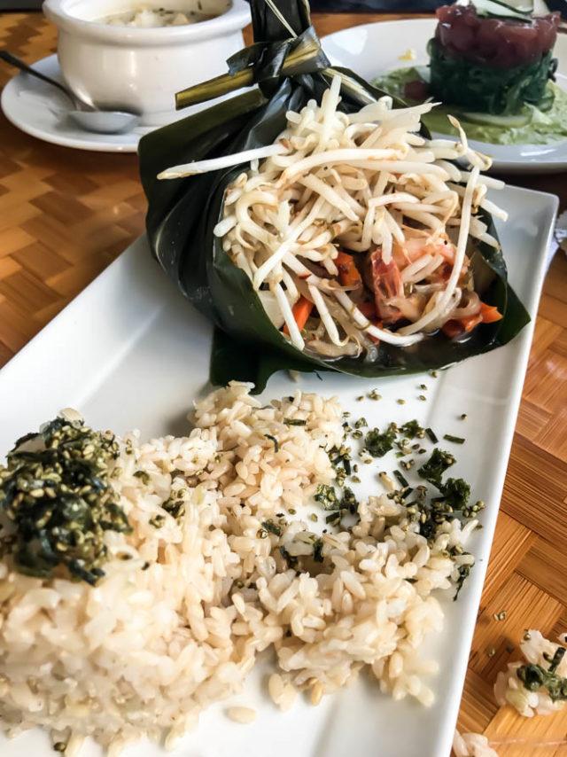 Seafood Lau Lau from Plantation Garden Restaurant, Poipu, Kauai.