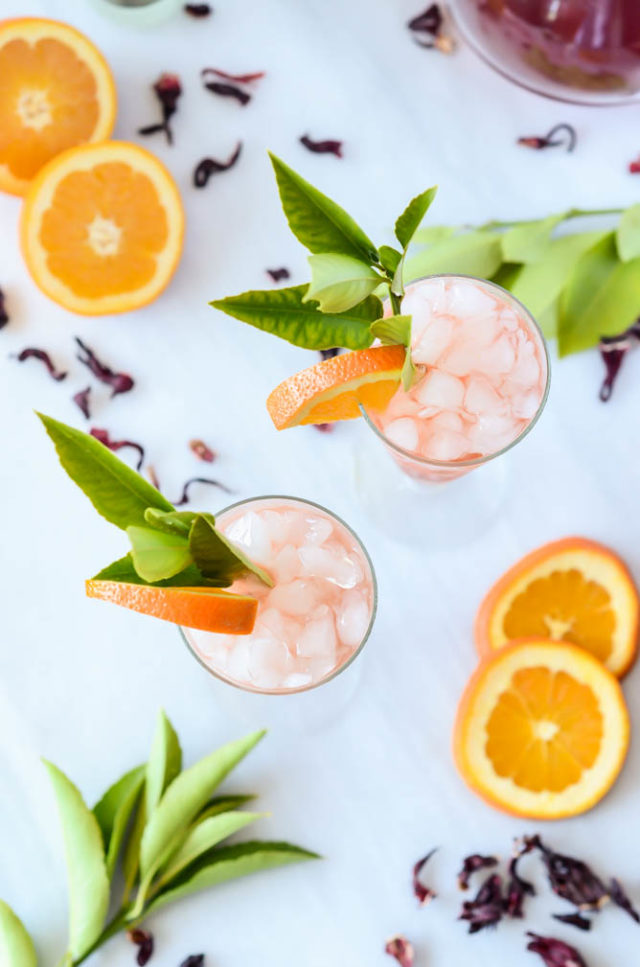 This Tropical Tea Zinger is a refreshing summer mocktail with plenty of spice!