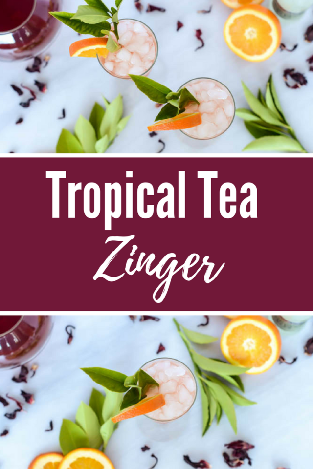 Tropical Tea Zinger | CaliGirlCooking.com