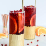 This Citrus, Pomegranate and Cherry Kombucha Punch is the perfect non-alcoholic batch drink to serve a crowd during the holidays.
