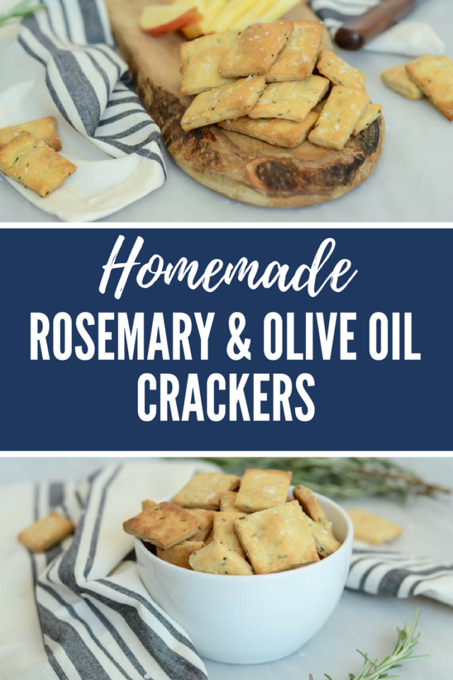 Homemade Rosemary and Olive Oil Crackers | CaliGirlCooking.com
