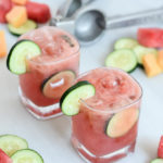 These Mixed Melon Cucumber Coolers are incredibly refreshing and can be made into a cocktail or mocktail!