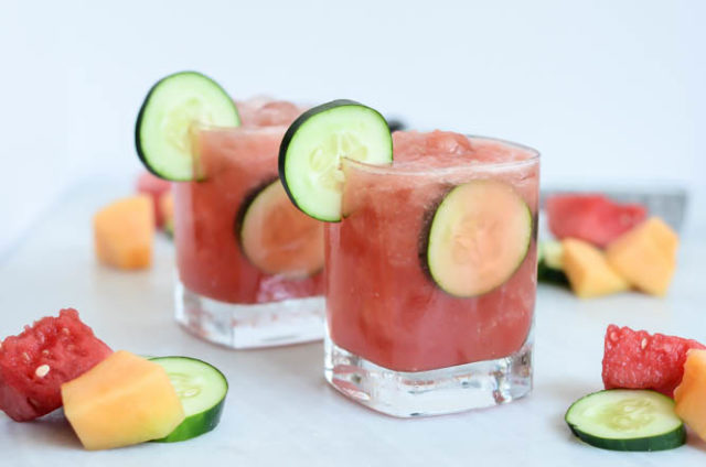 Mixed Melon Cucumber Coolers are hydrating and refreshing. Add some vodka or gin for an extra kick!