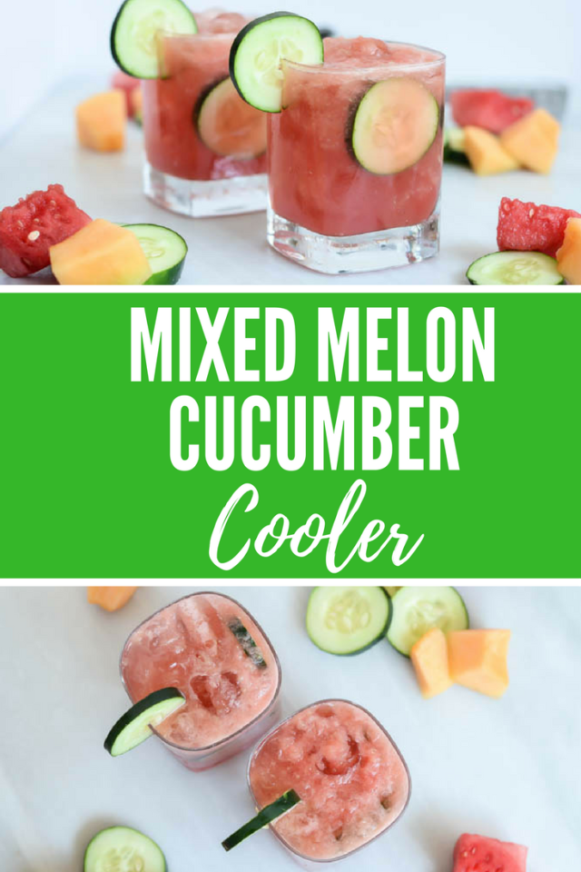 Mixed Melon Cucumber Coolers | CaliGirlCooking.com