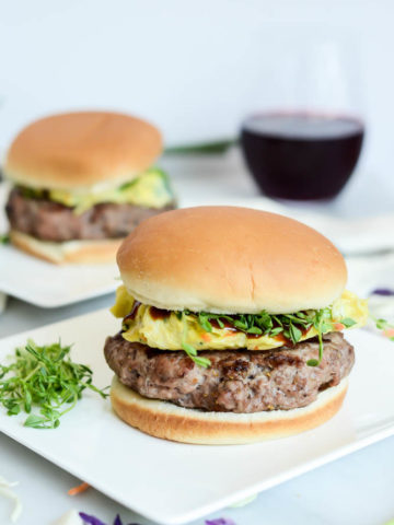 These Moo Shu Pork Burgers are a fun spin on the classic Chinese dish.