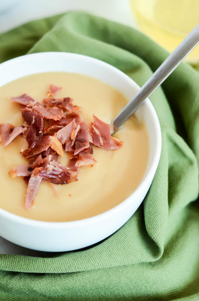 Super Easy Caramelized Onion and Potato Soup is the perfect comfort food meal.