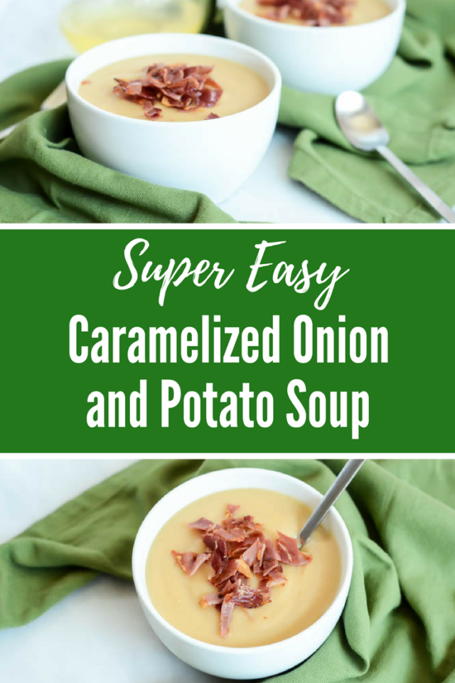 Super Easy Caramelized Onion and Potato Soup | CaliGirlCooking.com