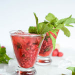 Virgin Raspberry Mojitos are a quick and easy, refreshing way to kick off the weekend.