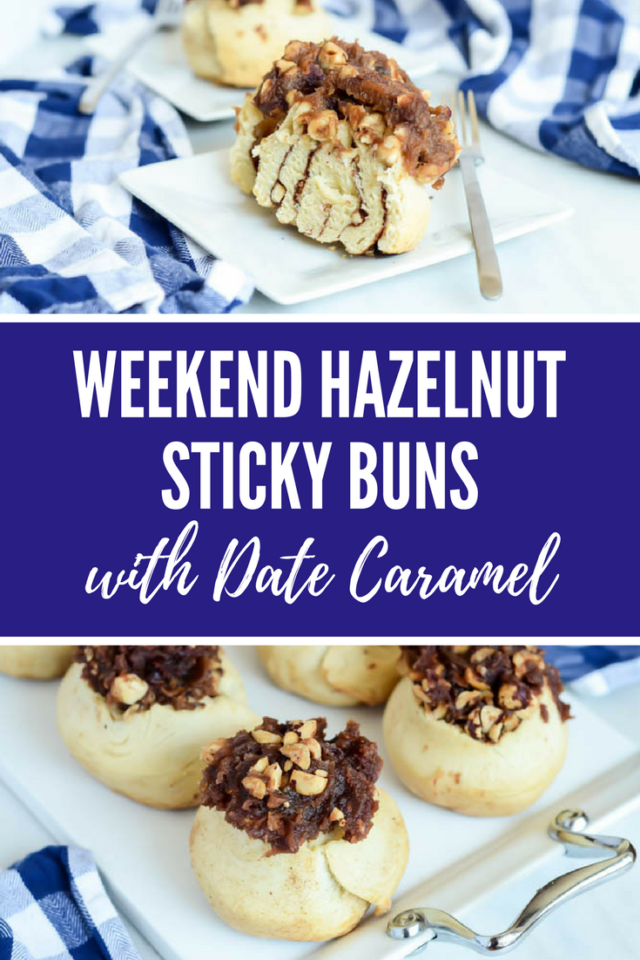 Weekend Hazelnut Sticky Buns with Date Caramel | CaliGirlCooking.com