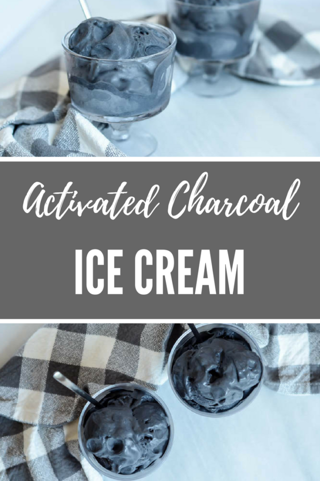 Activated Charcoal Ice Cream | CaliGirlCooking.com