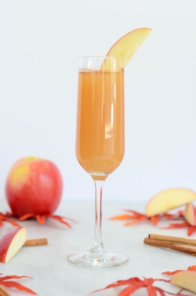 "An Apple Cinnamon ""Faux-mosa"" with tons of flavor - and perfectly acceptable for breakfast!"