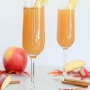 """These Apple Cinnamon """"Faux-mosas"""" are the perfect mocktail for fall."""