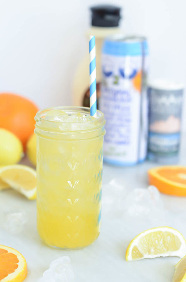 A frosty serving of this Homemade Citrus Electrolyte Drink is all you need after a tough workout!