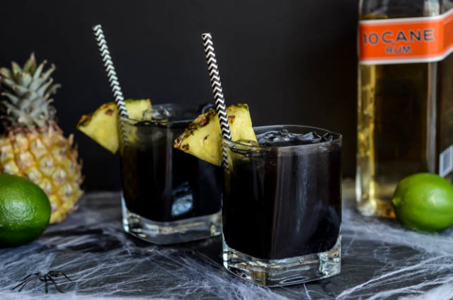 Midnight Mai Tais are the perfect cocktail for Halloween!