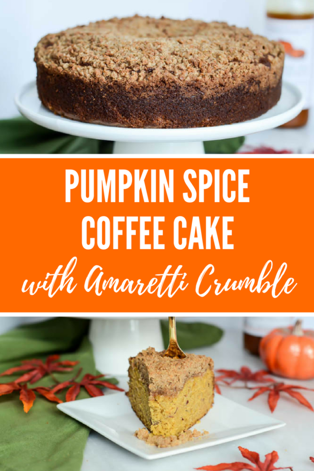 Pumpkin Spice Coffee Cake with Amaretti Crumble | CaliGirlCooking.com