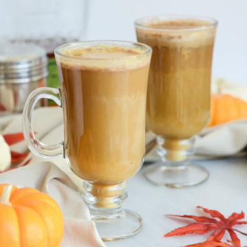 A couple of Bourbon-Spiked Pumpkin Spice Lattes are the perfect treat for the holidays!