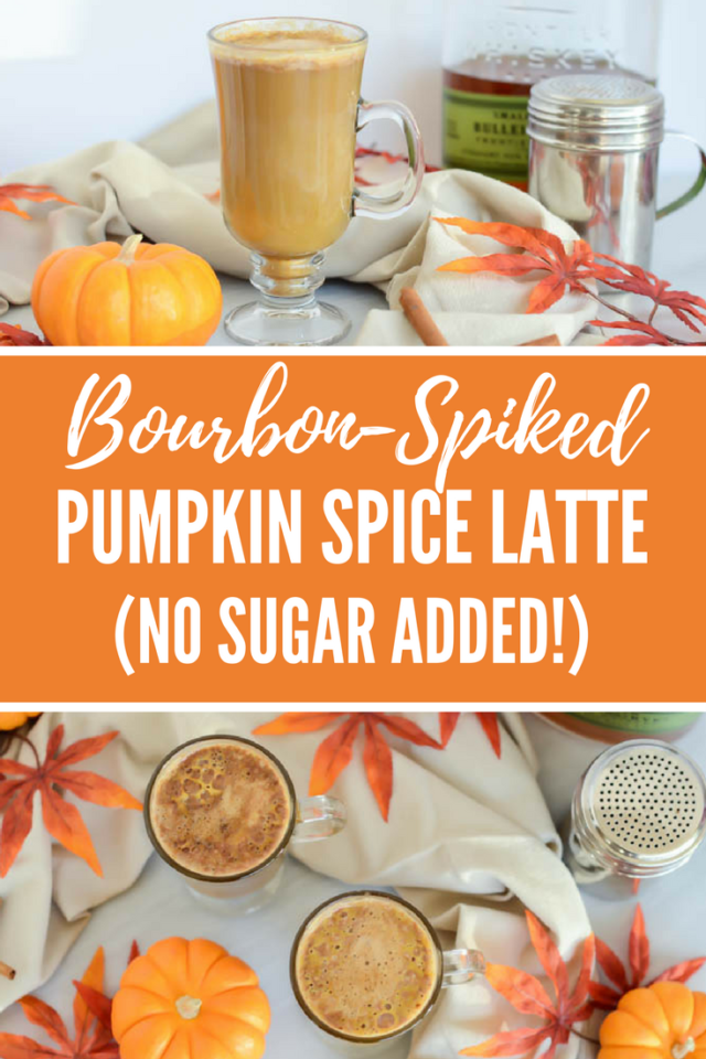 Bourbon-Spiked Pumpkin Spice Latte (No Sugar Added!) | CaliGirlCooking.com