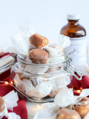Homemade Caramel Covered Scotch Kisses are the perfect holiday gift.