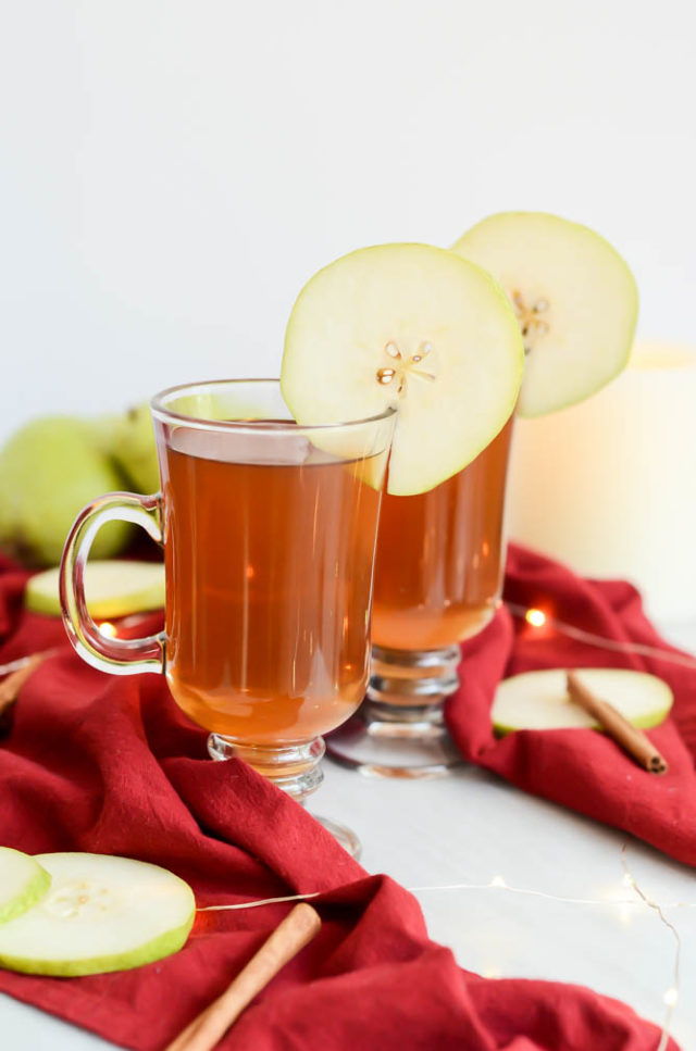 A couple of mugs of warm Spiked Pear Cider are just what you need on a cold fall or winter's night.