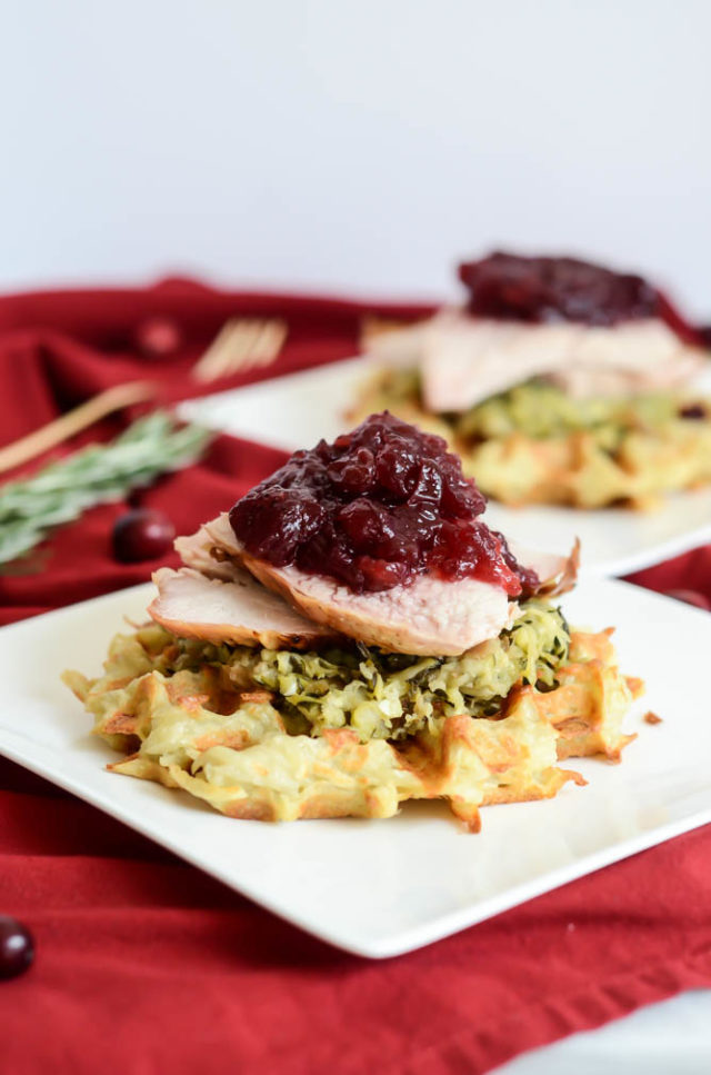Make an Ultimate Turkey Day Leftover Waffle as soon as your second craving for turkey strikes!