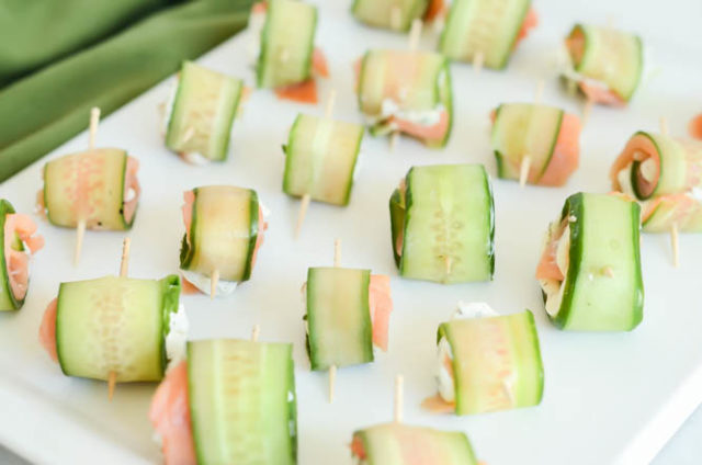 These Five-Ingredient Smoked Salmon and Cucumber Roll-Ups are the best holiday appetizer to make this year!