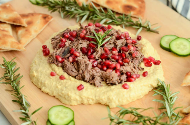 Loaded hummus is the perfect healthy snack that can easily pass as a meal!
