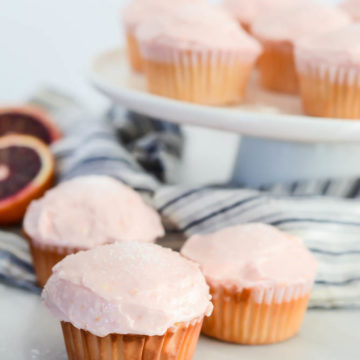 These easy, festive cupcakes are full of citrus flavor - with a little hit of booze!