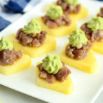 Ahi Poke Pineapple Bites with Avocado Mousse are the perfect healthy appetizer for your next get-together.
