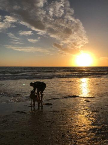 A beautiful beach sunset in Santa Barbara, CA