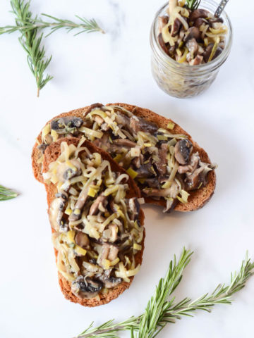 Leeks and a medley of mushrooms combine to form a delicious appetizer that's perfect for picnics, entertaining and more!