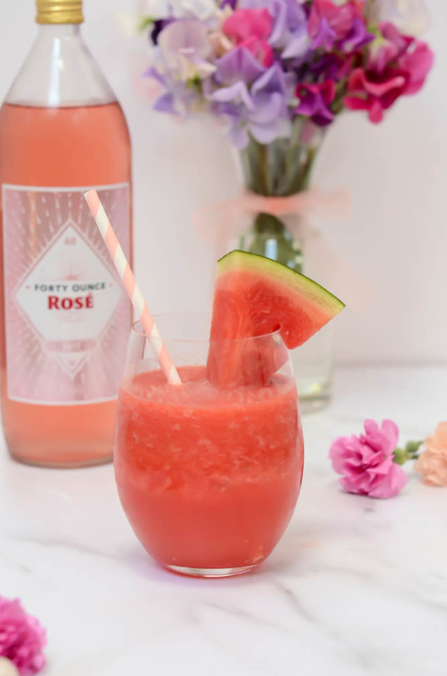 THE MOST Refreshing Watermelon Aperol Frozé | CaliGirlCooking.com