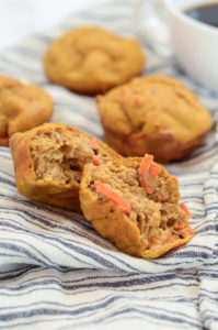 These one-bowl Pumpkin Carrot Muffins are super simple to make, freezer-friendly and naturally sweetened. They're both adult and kid-friendly!