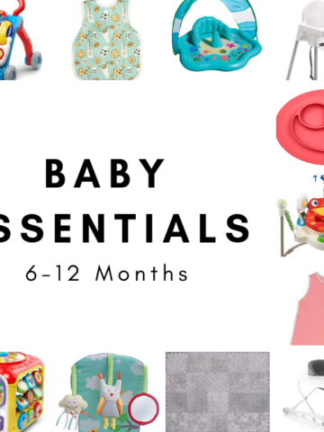 A list of what we considered the essential baby products for our little one's months 6-12.