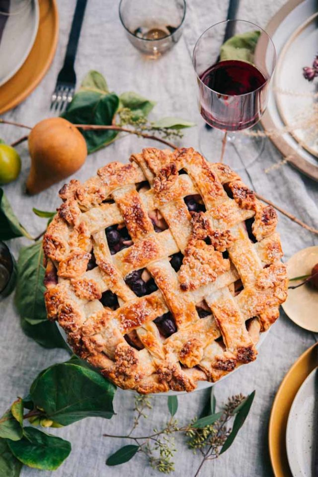 Spiced Up Apple Grape Pie from BakingtheGoods.com is the perfect holiday dessert!