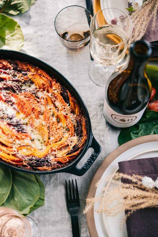 This Root Vegetable Gratin from LePetitChefSantaBarbara.com is the perfect autumn side dish for fall entertaining.