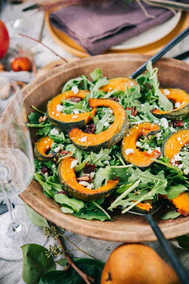 This Acorn Squash Salad with Warm Apple Cider Vinaigrette is another perfect side dish for fall entertaining.