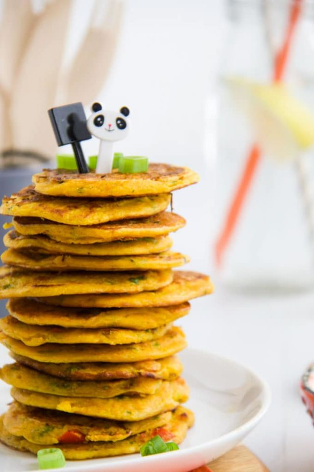 Chickpea Pancakes | 10 Easy Make-Ahead Baby-Led Weaning Recipes on CaliGirlCooking.com