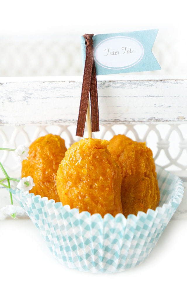 Sweet Potato Lentil Tater Tots | 10 Easy Make-Ahead Baby-Led Weaning Recipes on CaliGirlCooking.com