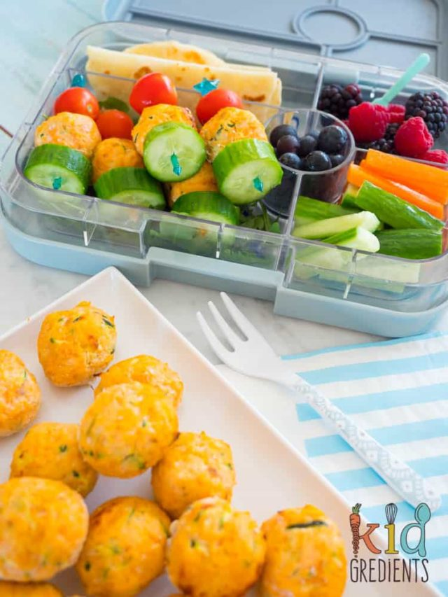 Salmon and Veggie Balls | 10 Easy Make-Ahead Baby-Led Weaning Recipes on CaliGirlCooking.com