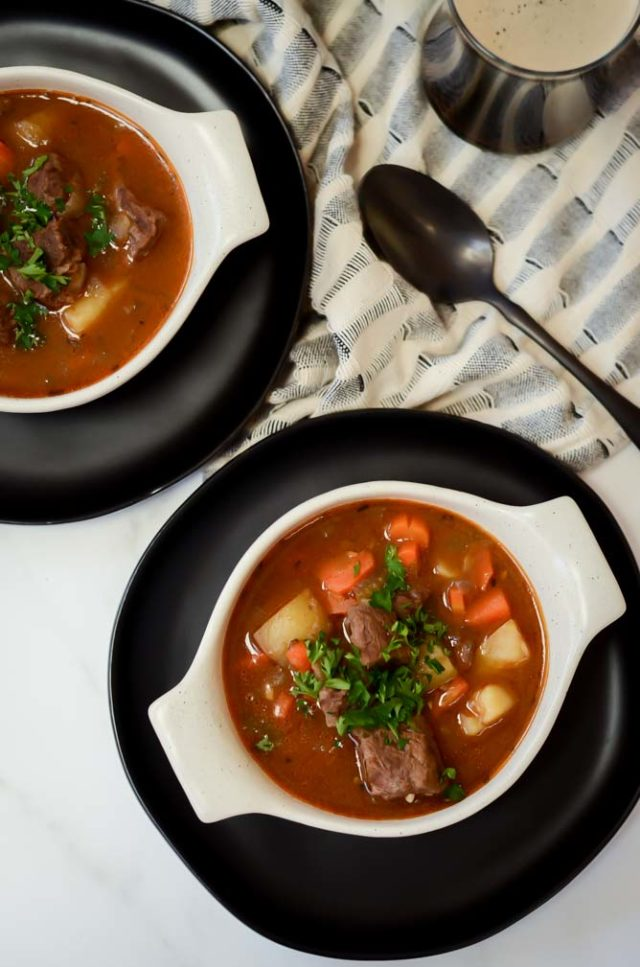 Quick and Easy Instant Pot Guinness Beef Stew | CaliGirlCooking.com