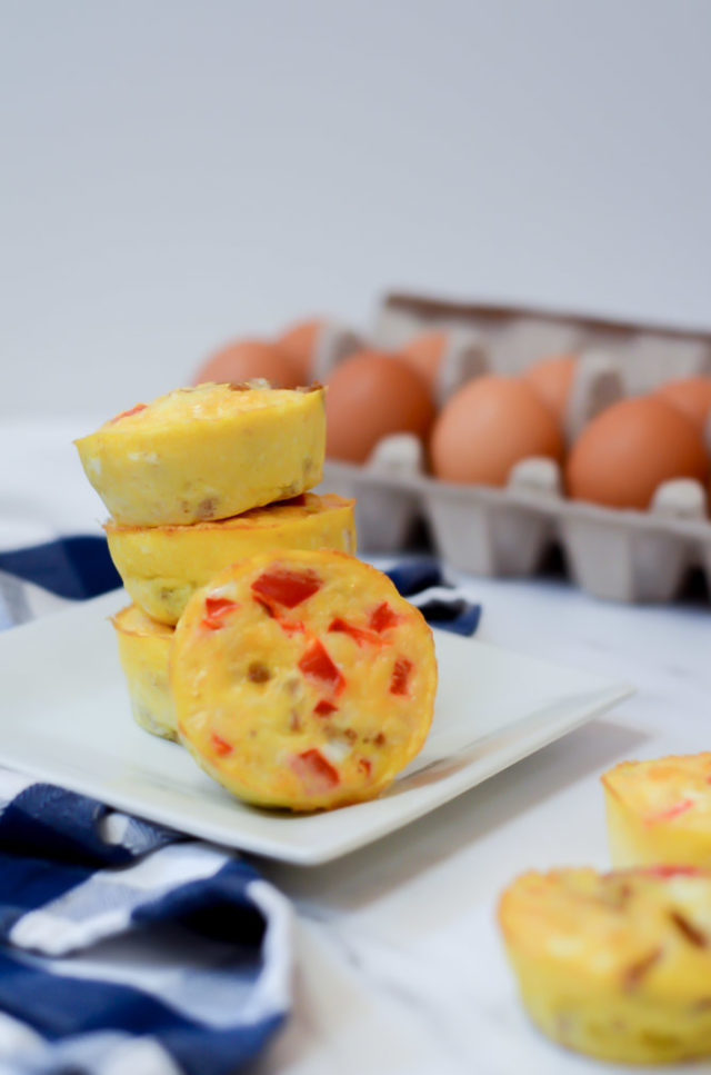 Egg cups are a great make-ahead meal or snack for 12-month-olds!
