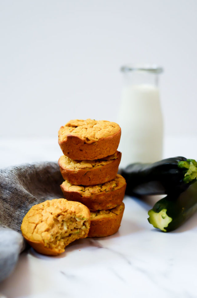 Sweet Potato Zucchini Blender muffins are sure to be a hit with your 8-month-old.