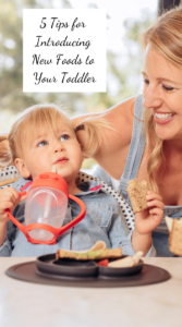 5 Tips for Introducing New Foods to Your Toddler Title Graphic
