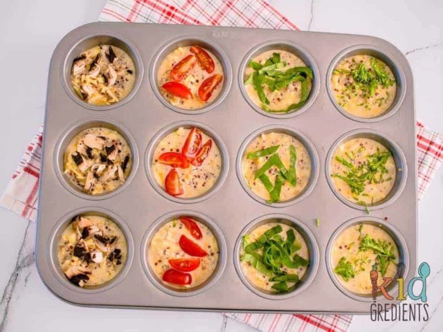 A pan of 5-Ingredient Eggy Quinoa Cups.
