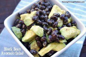 A bowl of Black Bean Salad with Avocado.