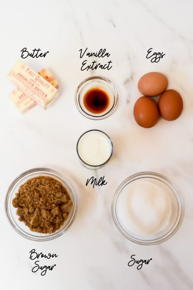 Some of the ingredients needed to make cranberry chocolate chunk muffins.