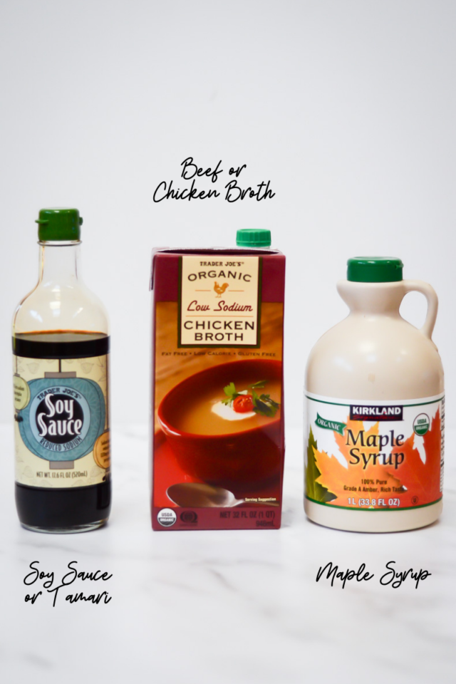 Some of the ingredients needed to make stir-fry sauce.
