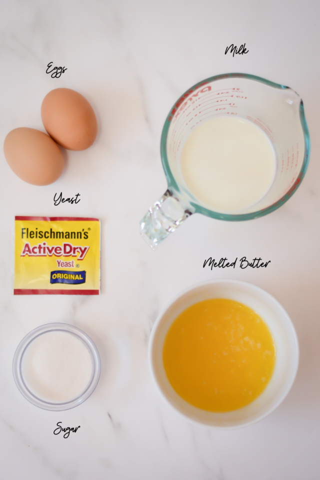 Some of the ingredients needed for Hot Cross Buns.