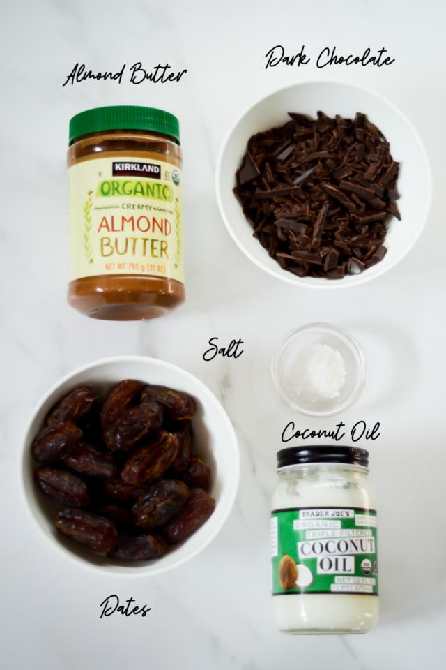Ingredients needed to make Date Bites.